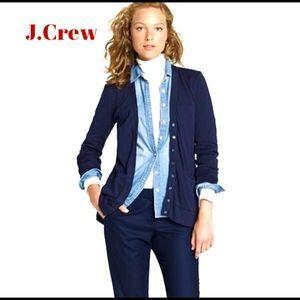 J.Crew Perfect-fit mixed-tape cardigan, Navy, SzM